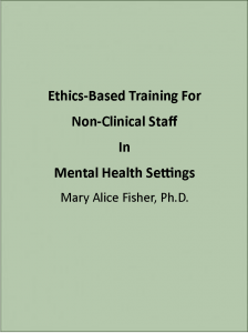 Ethics-based training for non-clinical staff in mental health settings book